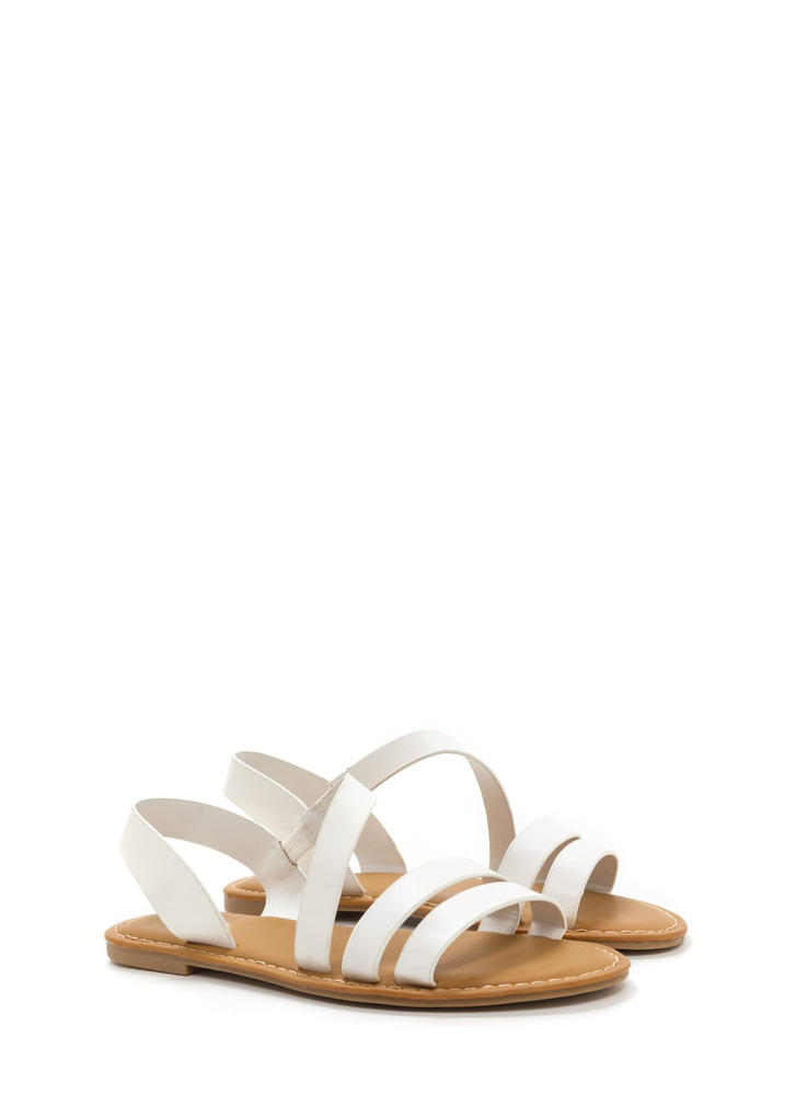 Picture Perfect Strappy Sandals WHITE