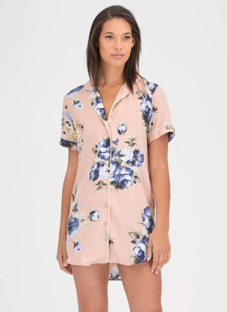 Garden Path Floral Shirtdress