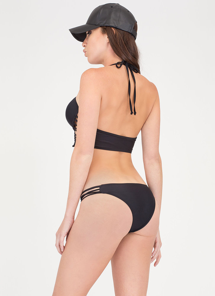 Hot Destination Caged Bikini Set BLACK (Final Sale)