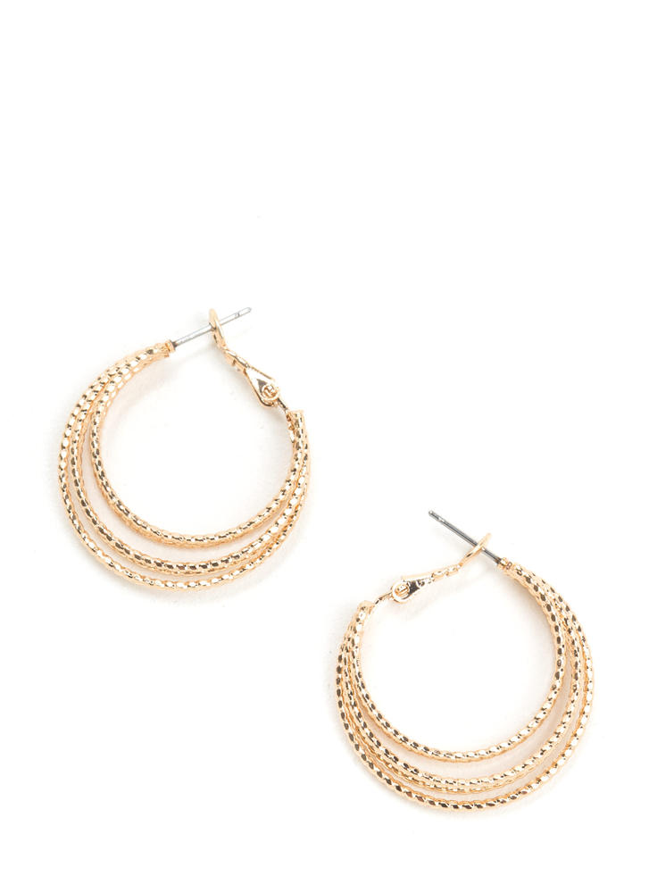 Bright On Layered Hoop Earrings