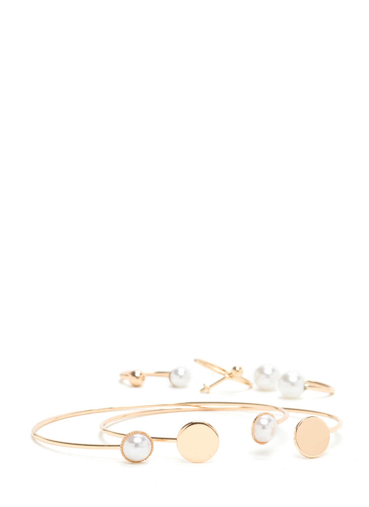 Luxe Minimal Beauty Cuff 'N Ring Set