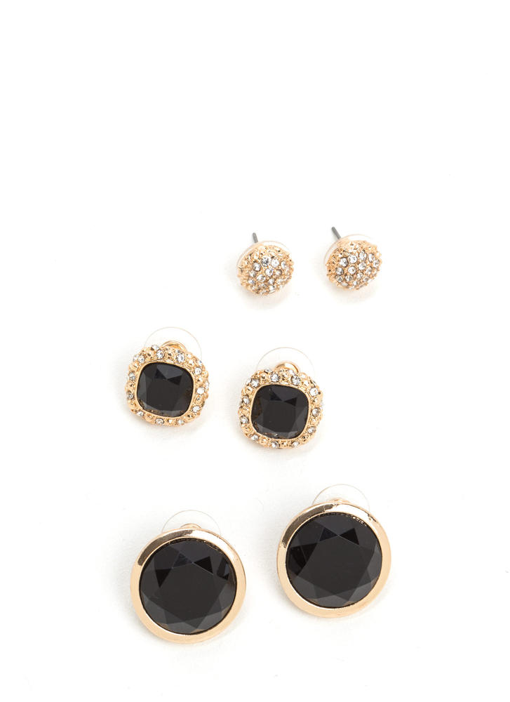 Cocktail Date Faux Jewel Earring Set
