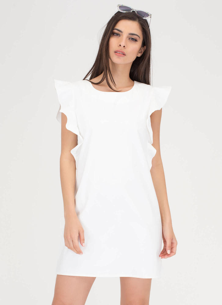 Flirty Ruffles Shift Minidress