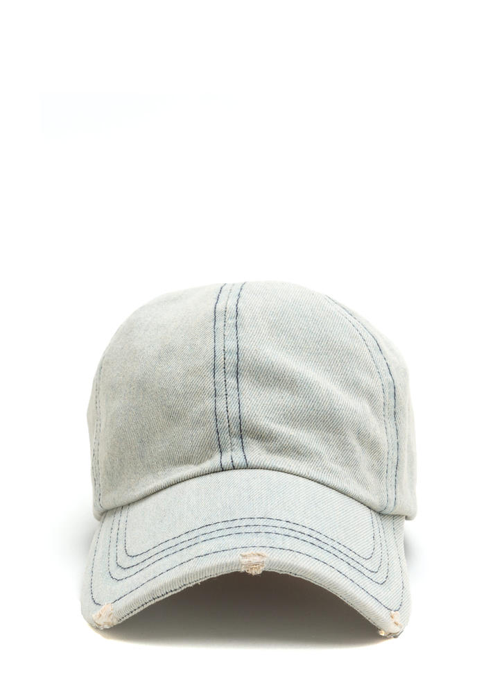 Devoted To Denim Distressed Baseball Hat