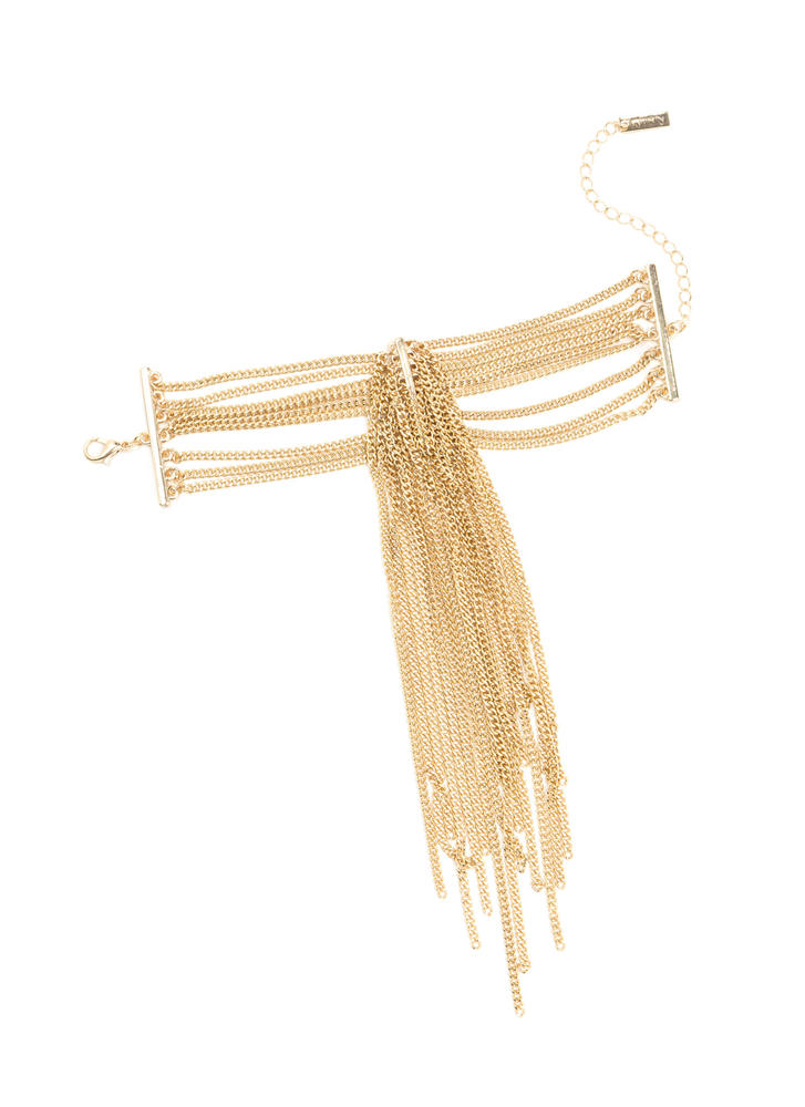 Arm Candy Layered Chain Fringe Bracelet