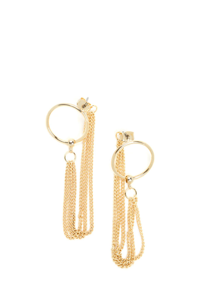 Chic Confidence Hoop 'N Chain Earrings