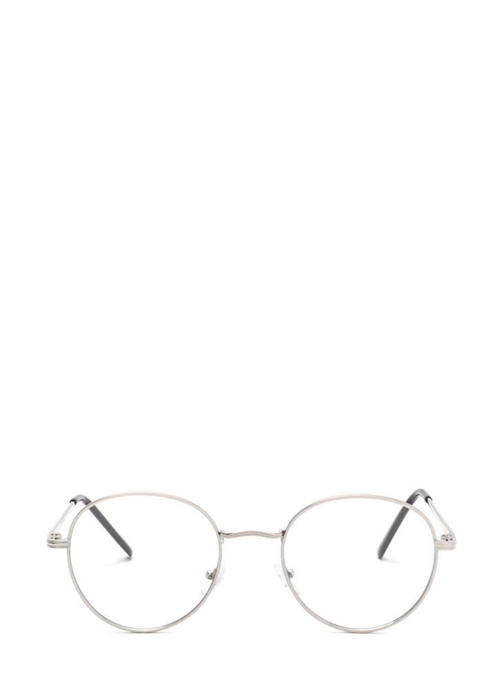 See You Clearly Wire Glasses SILVER