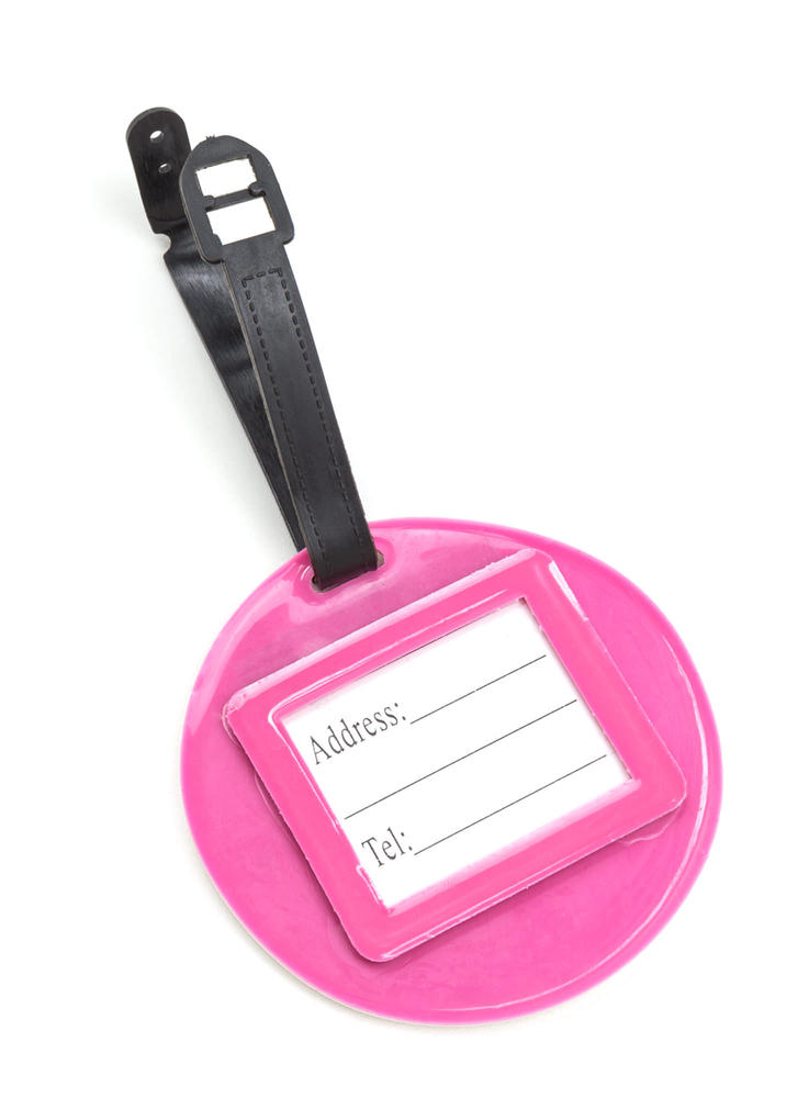 Do-nut Worry Cut-Out Luggage Tag PINK