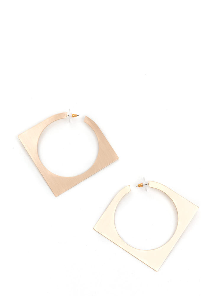 Abstract Concept Cut-Out Square Earrings