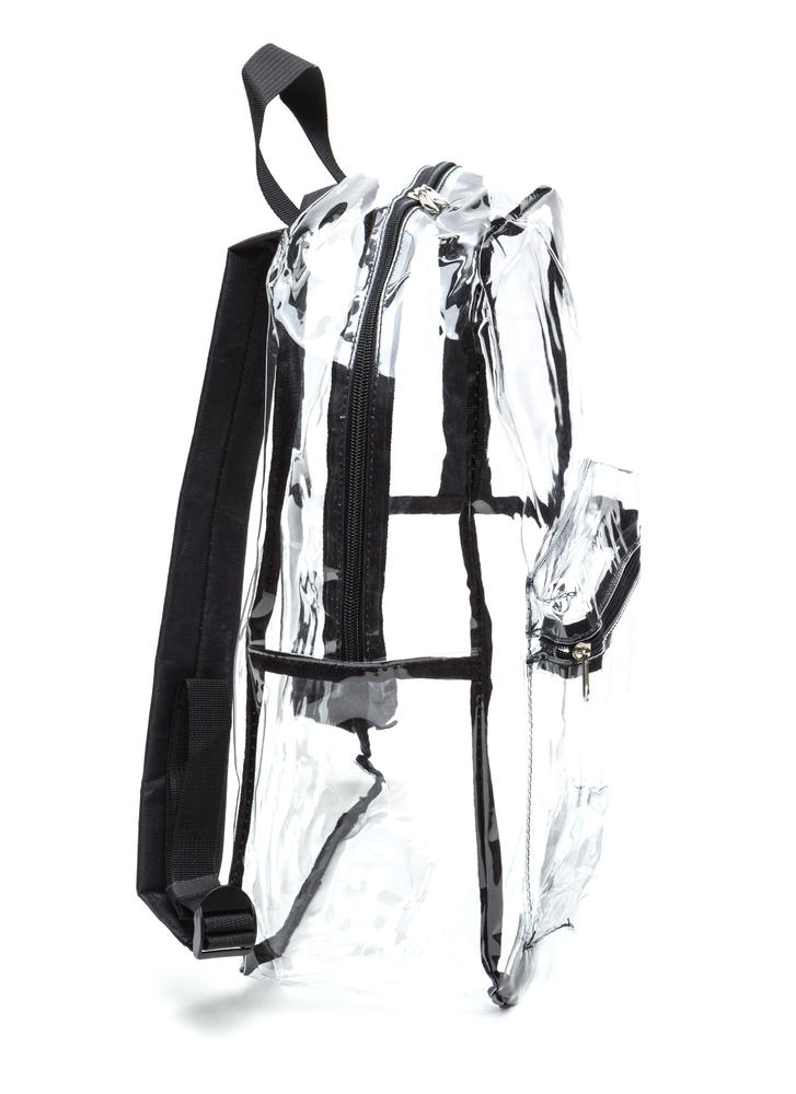Clearly Perfect PVC Backpack BLACKCLEAR