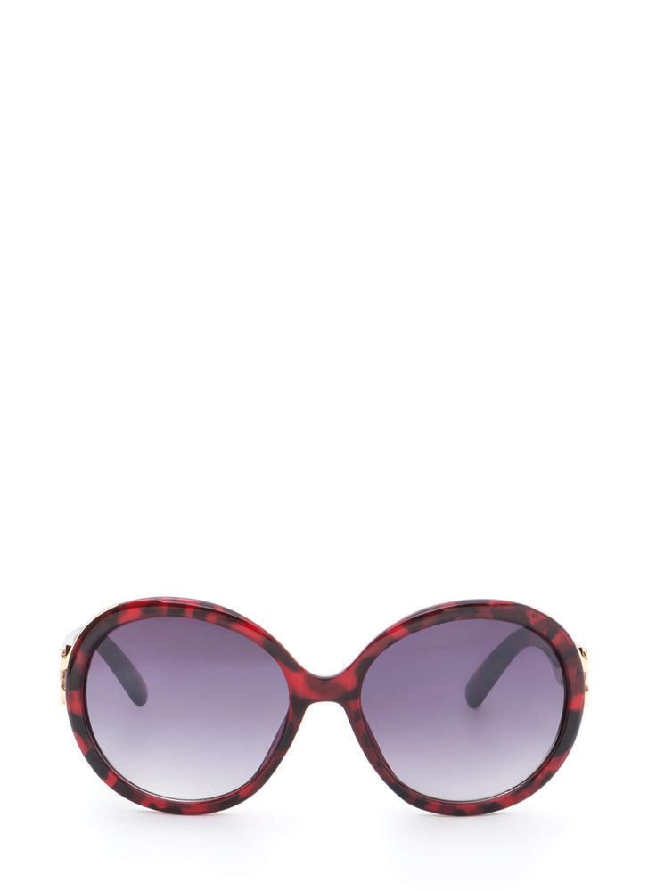 Life With Pi Round Sunglasses RED
