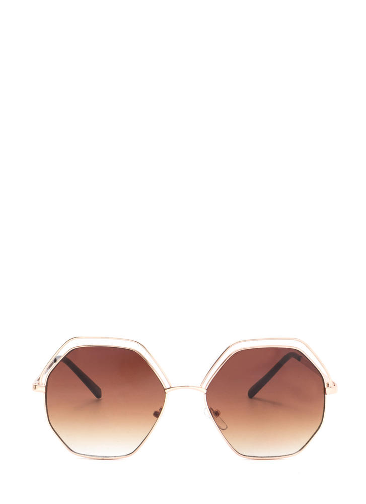 Try New Angles Mirrored Sunglasses BRONZEGOLD