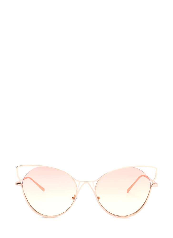 Purr-fect Cut-Out Cat Eye Sunglasses
