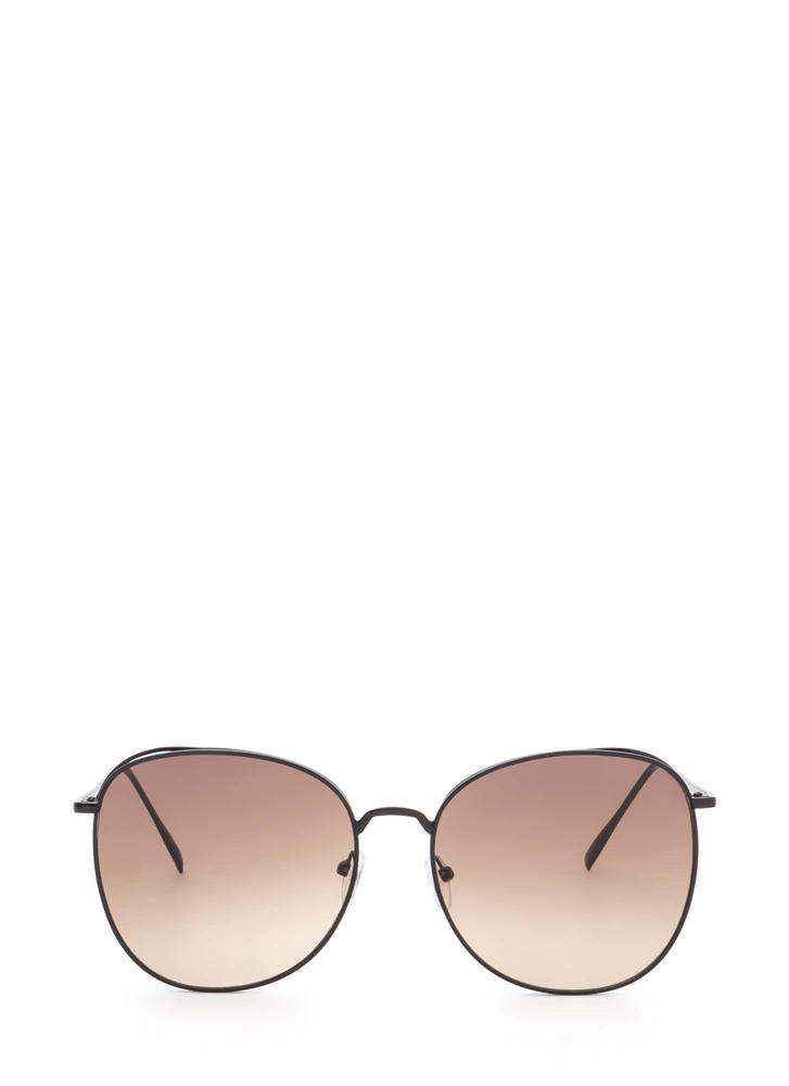 Give Us A Tint Oversized Sunglasses BROWNBLACK