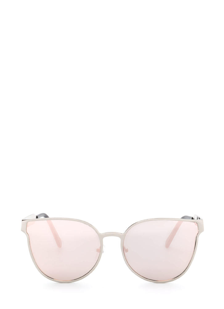 Drops The Subject Reflective Sunglasses SILVERPINK