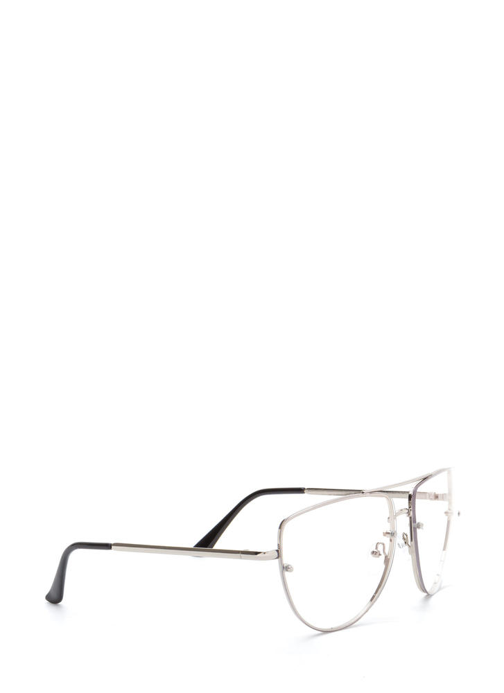 Four Eyes Top Bar Glasses SILVER