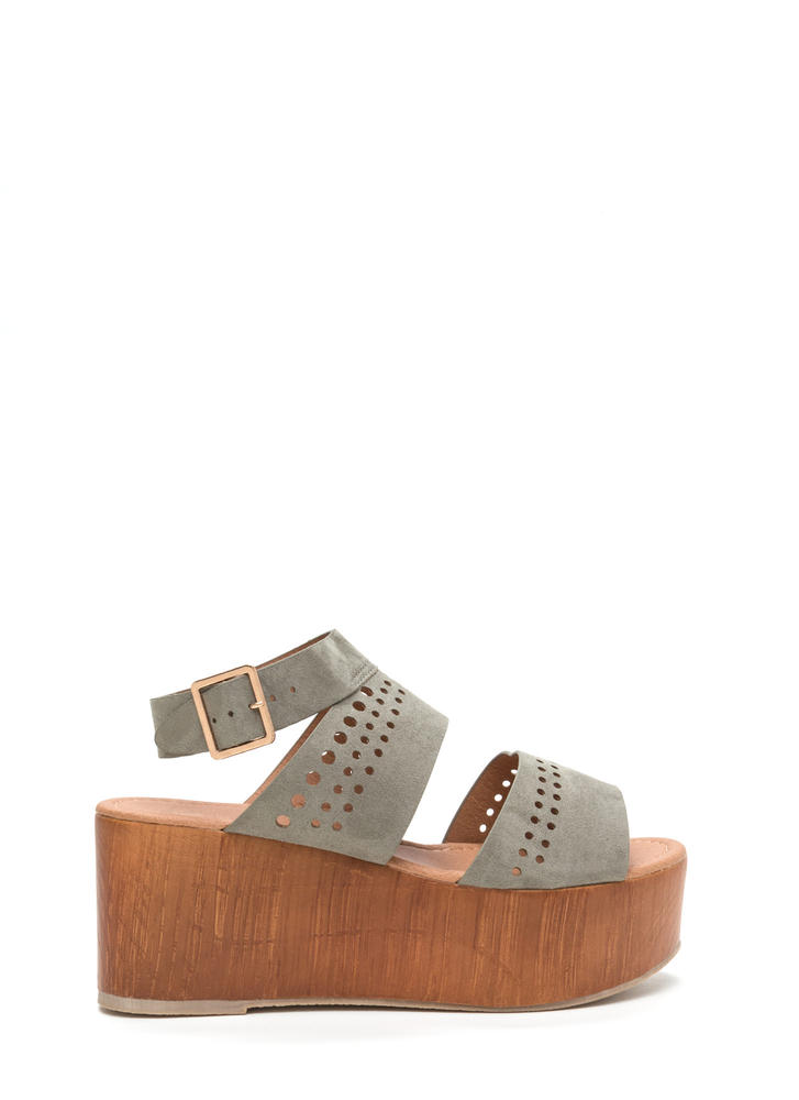 Friend Circle Cut-Out Platform Wedges