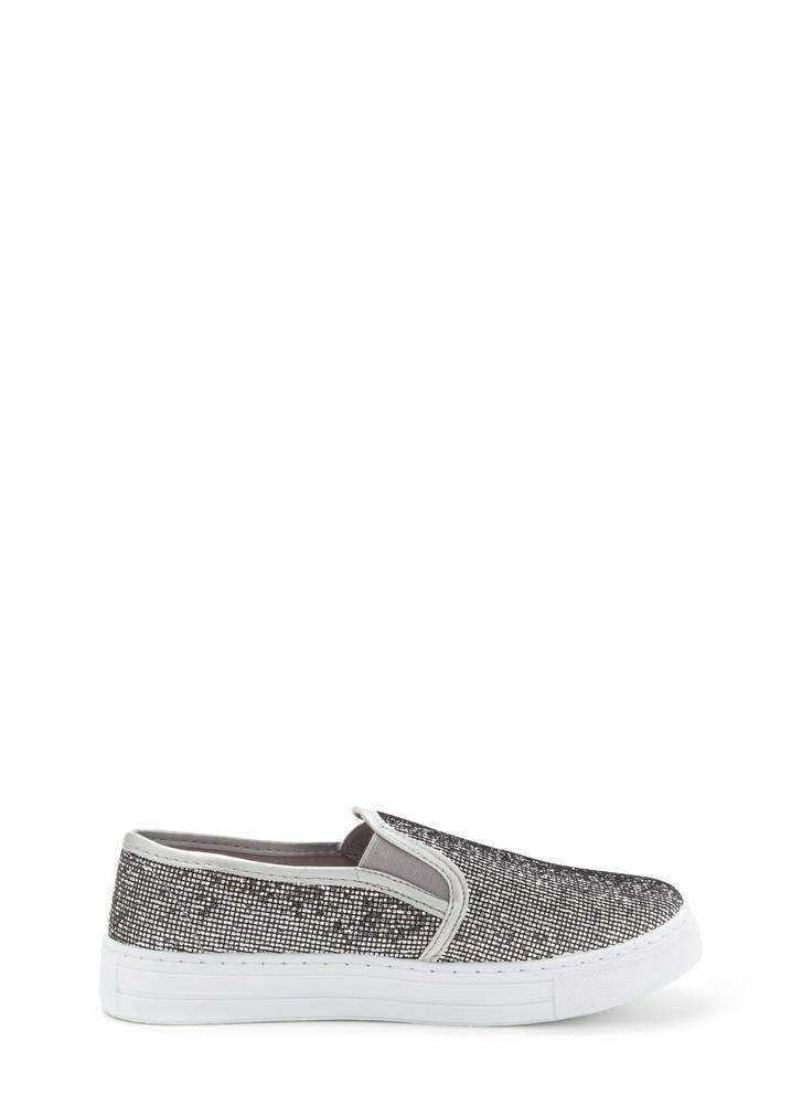 Casual 'N Glam Sparkly Slip-On Sneakers
