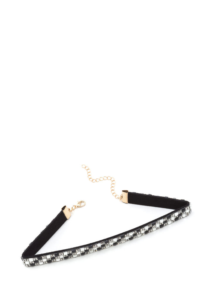 Check Mate Slim Jeweled Choker