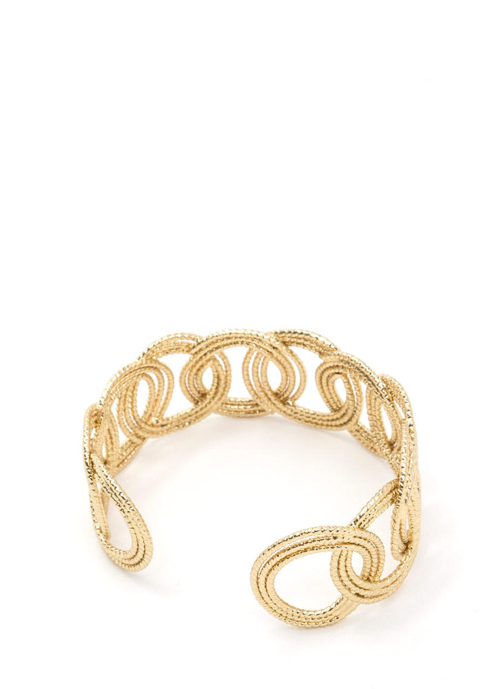Ring Of Truth Shiny Cuff Bracelet GOLD