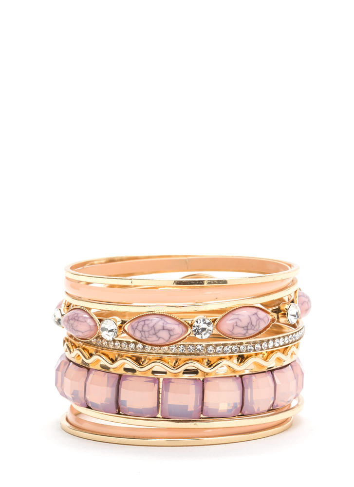 Mix 'N Match Sparkly Bangle Set