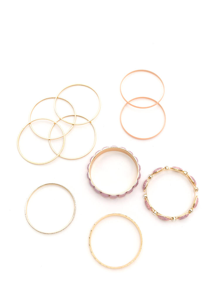 Mix 'N Match Sparkly Bangle Set GOLDMULTI