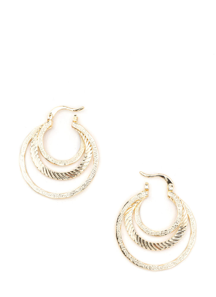 Glow For It Glitzy Layered Hoop Earrings