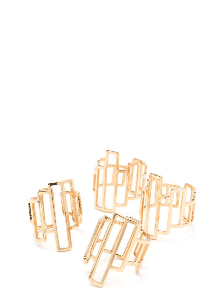 Fashionista Fingers Cut-Out Ring Set