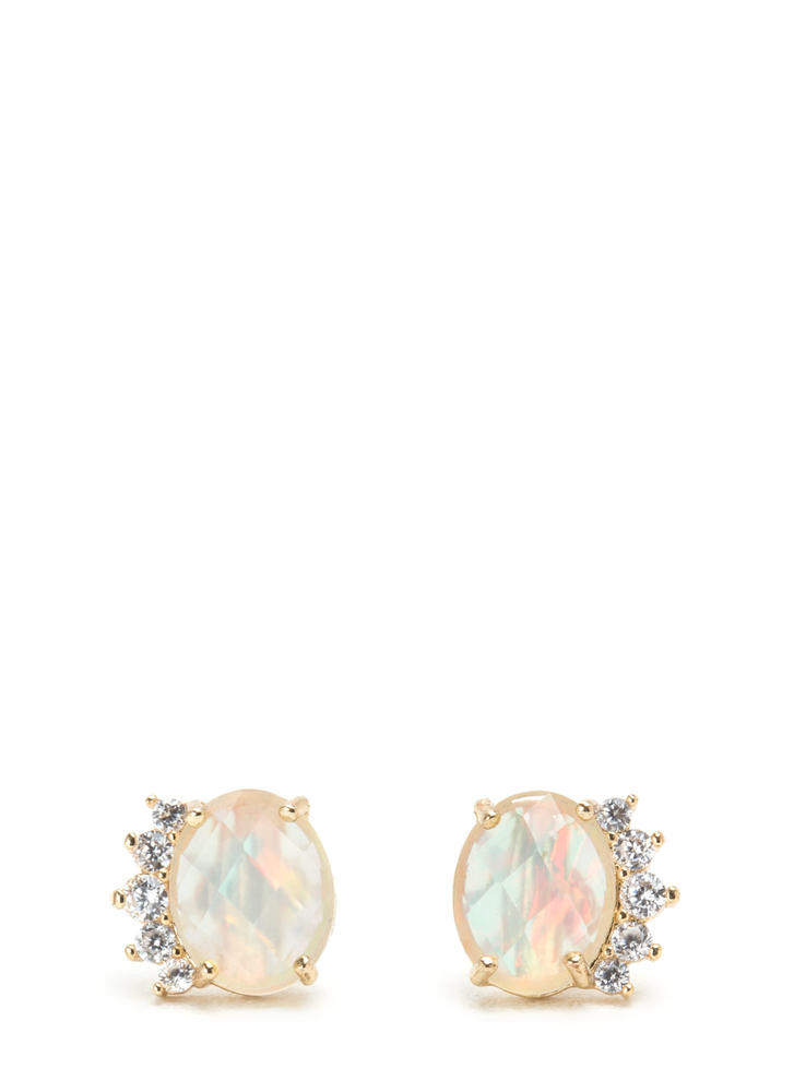 All Opal You Sparkly Earrings GOLD