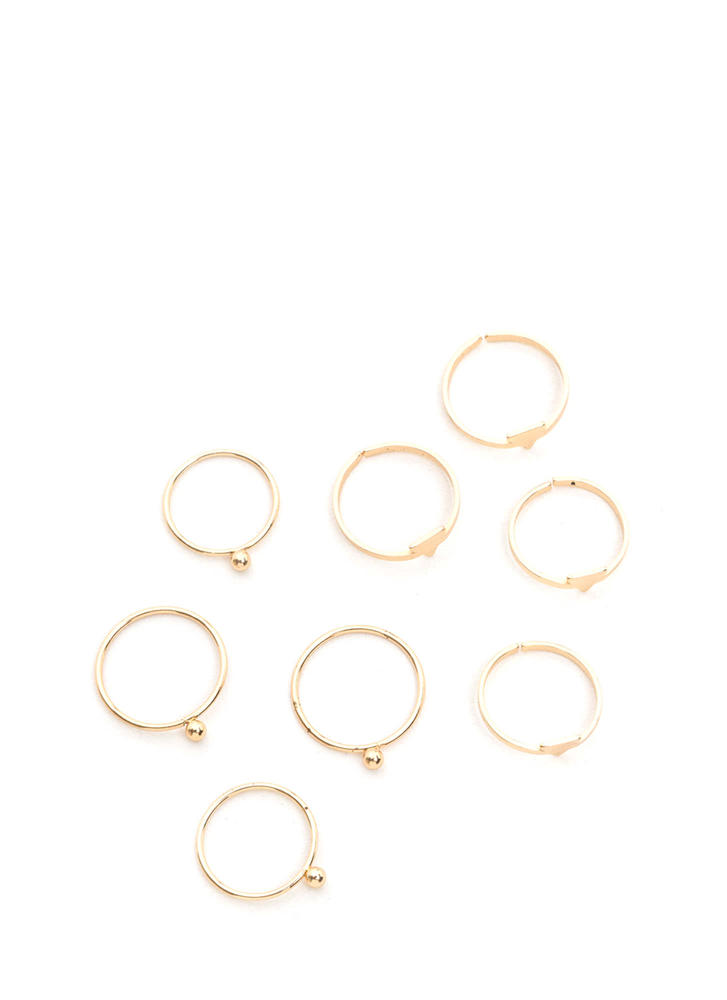 Your Choice Dainty Stacked Ring Set GOLD