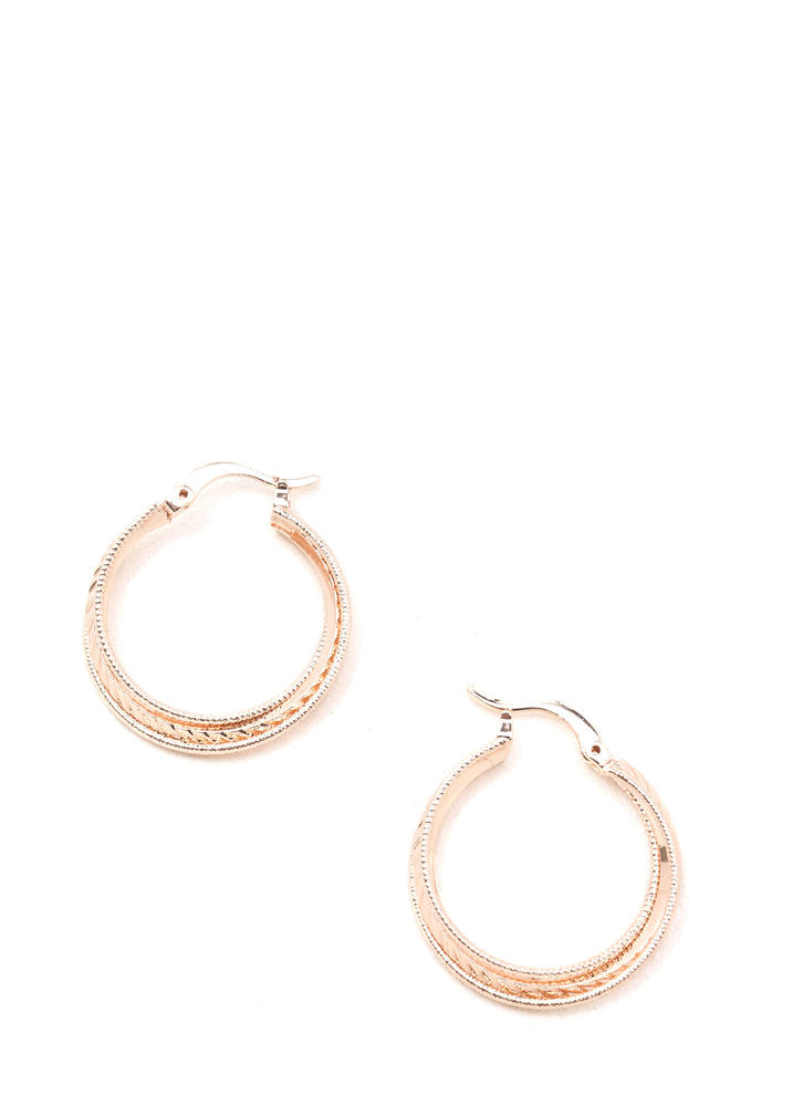 Stylish Twist Textured Hoop Earrings