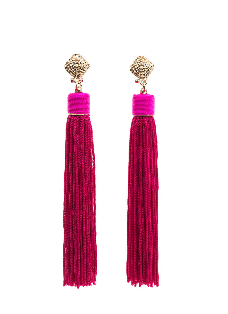 Sway To Go Tassel Earrings