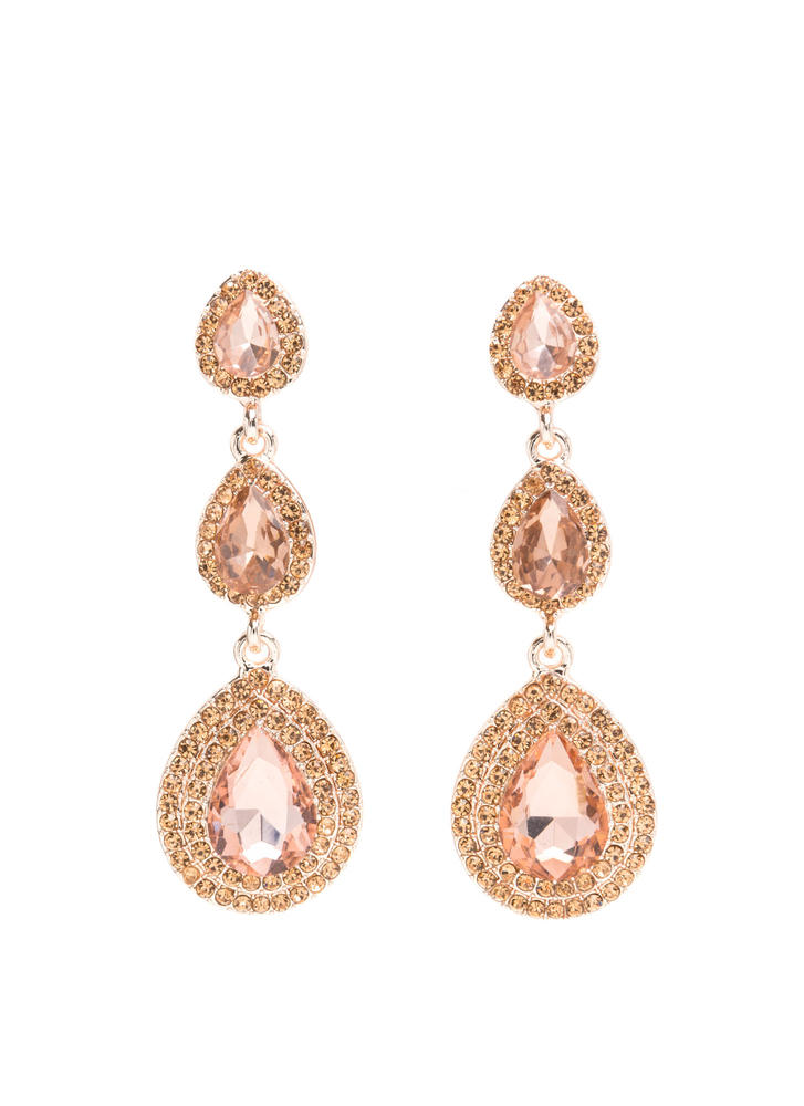 Jaw Dropper Faux Jewel Earrings