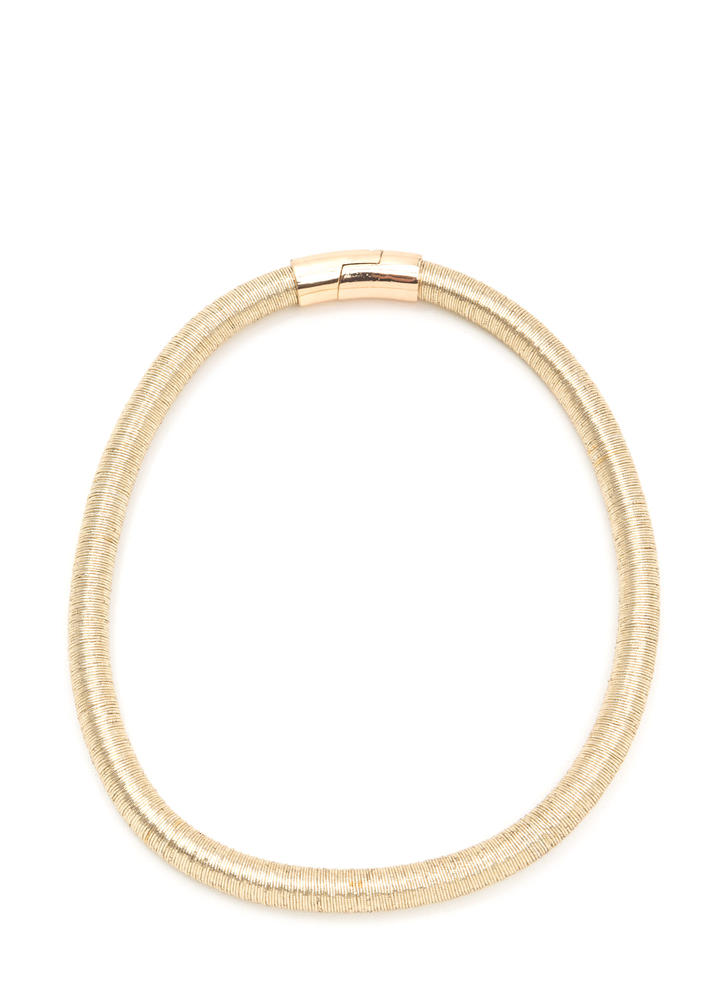 Signature Look Metallic Cord Necklace