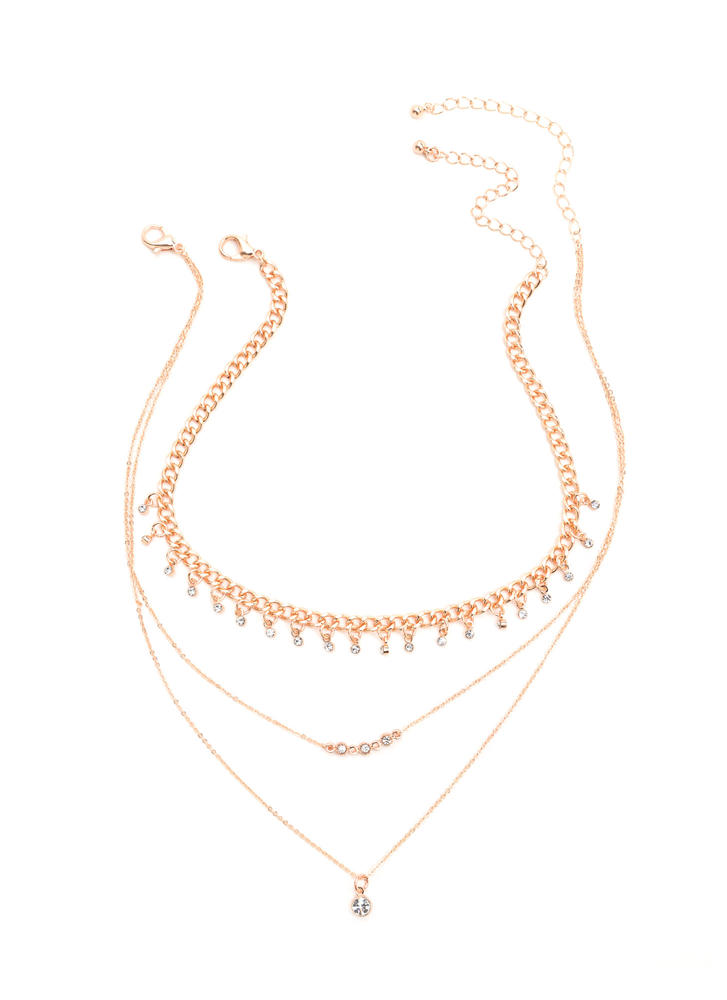 Finer Things Jeweled Necklace Set