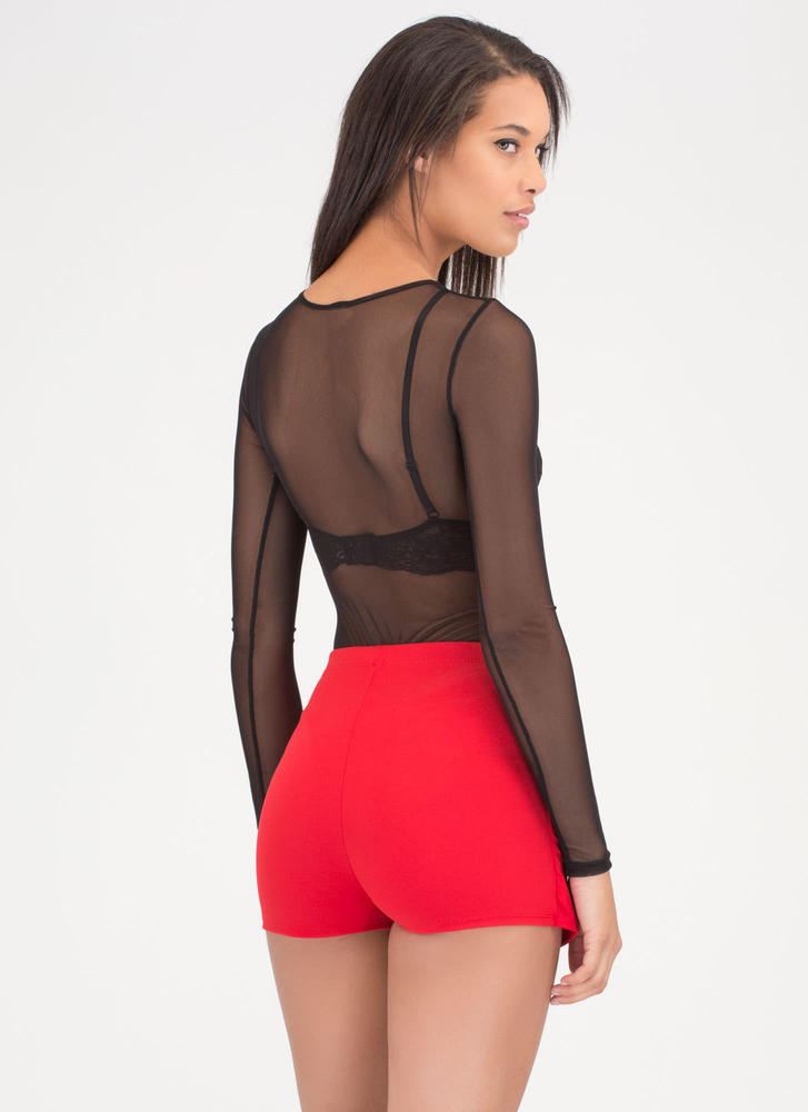 Lace-Up To You Mini Skort RED