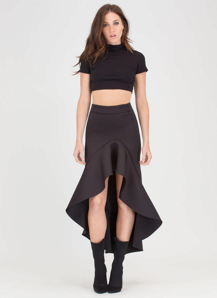 Mermaid Magic Ruffled High-Low Skirt
