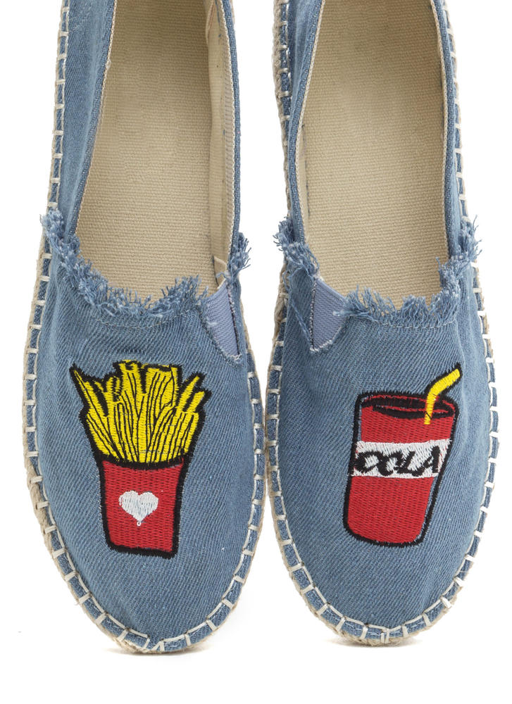 Foodie Fun Embroidered Espadrille Flats