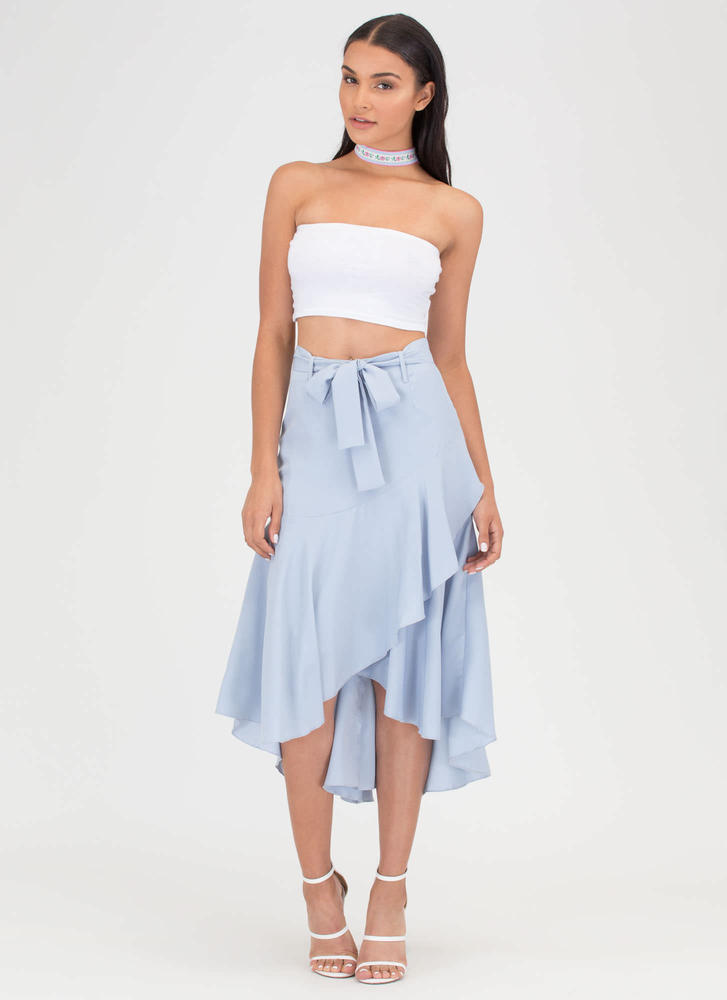 Flow Your Own Way High-Low Midi Skirt