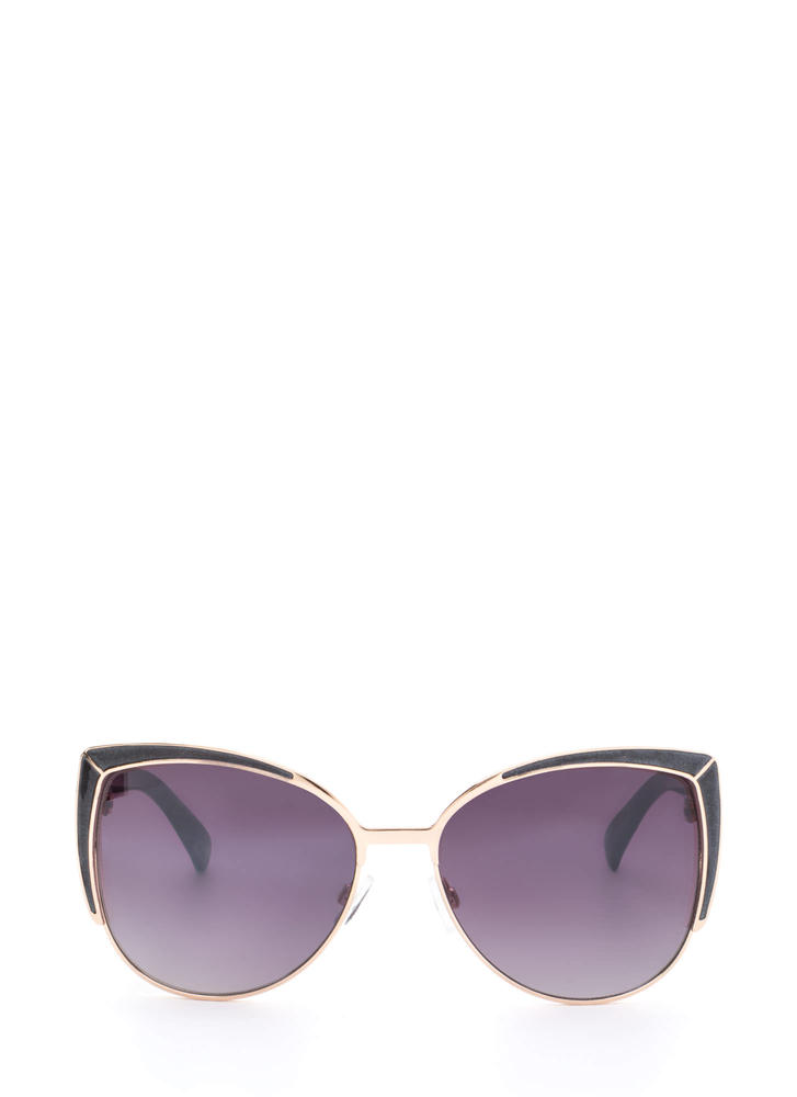 Pool Party Ready Large Sunglasses BLACKGOLD