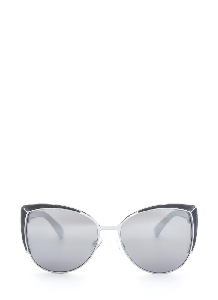Pool Party Ready Large Sunglasses BLACKSILVER