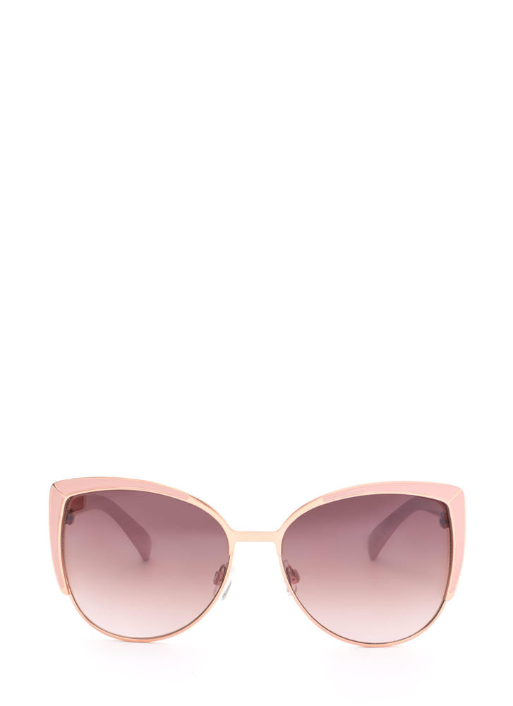 Pool Party Ready Large Sunglasses ROSEGOLD