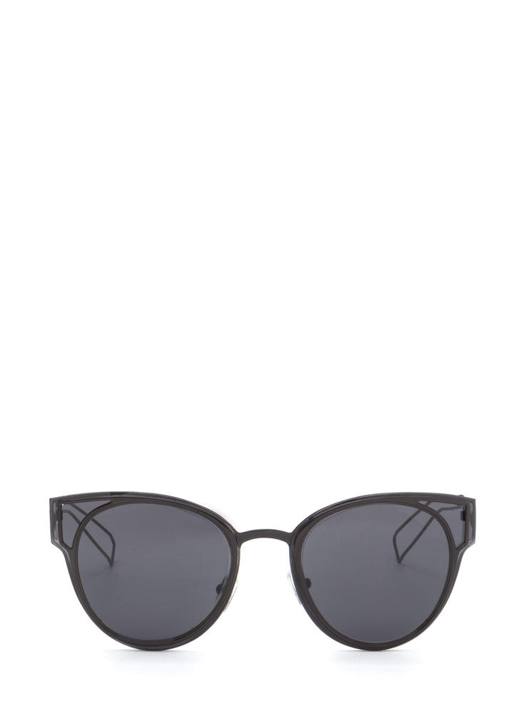 Beach Bum Rounded Sunglasses BLACK