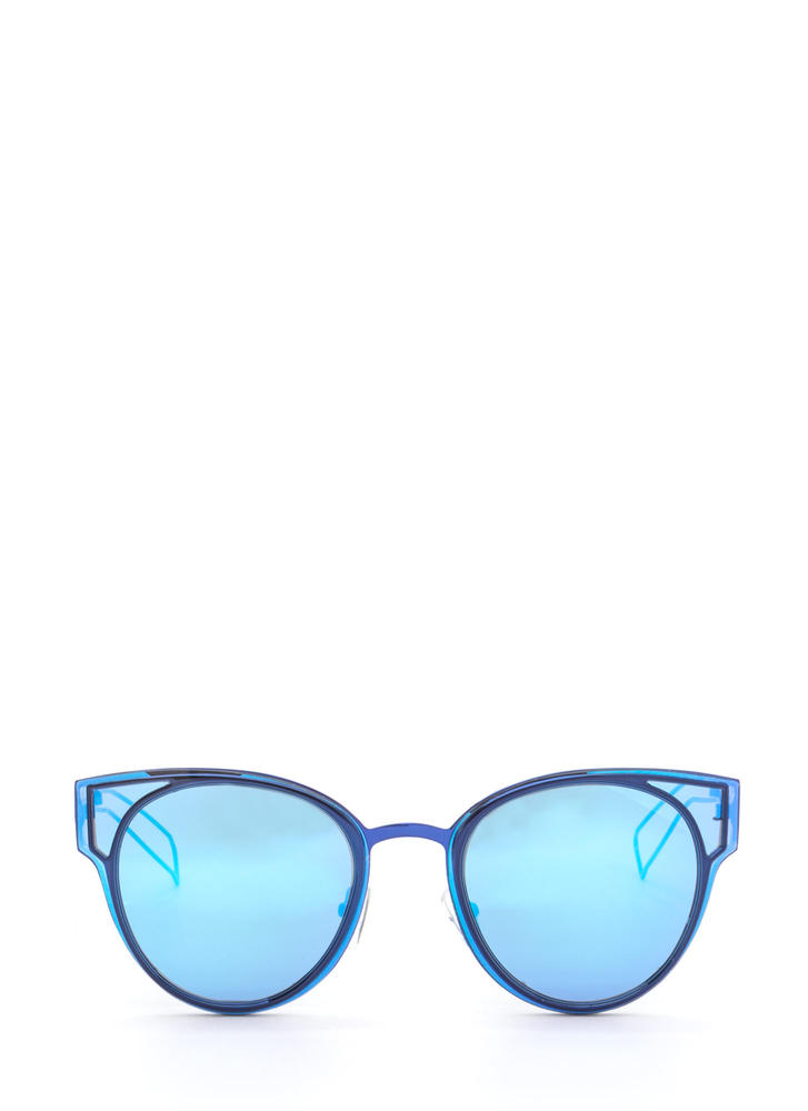 Beach Bum Rounded Sunglasses BLUE