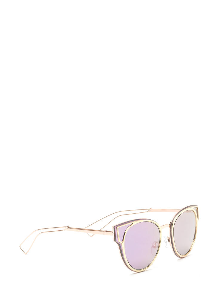 Beach Bum Rounded Sunglasses PURPLEGOLD