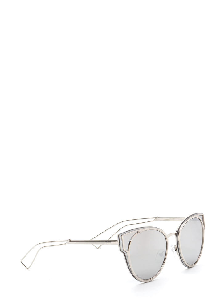 Beach Bum Rounded Sunglasses SILVER