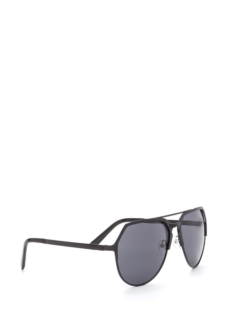 On The Go Top Bar Sunglasses BLACKBLACK