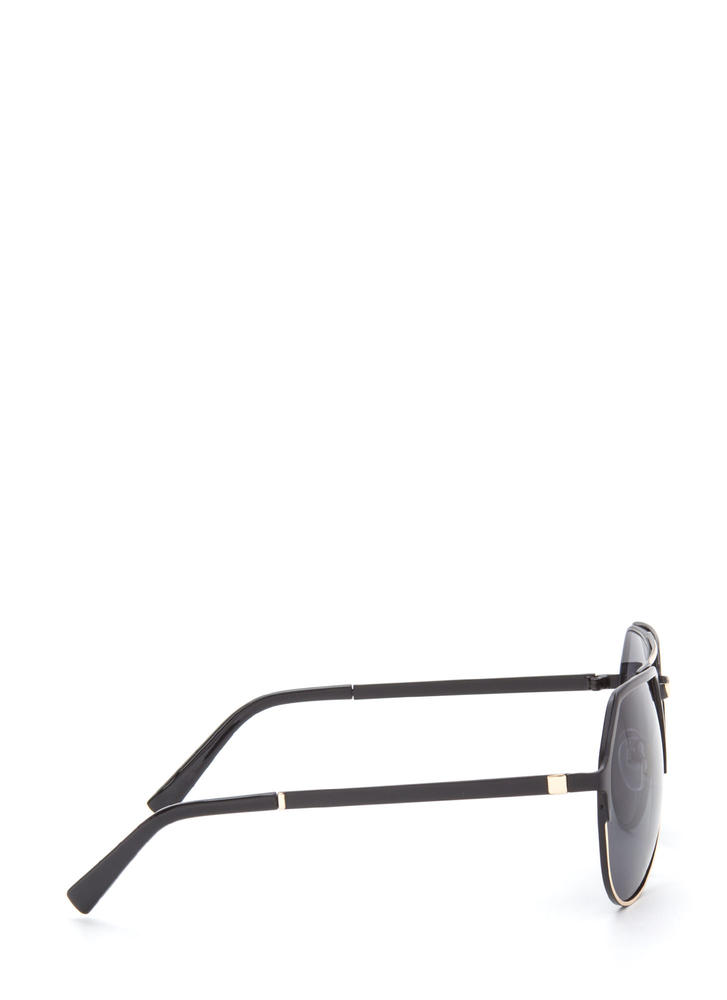 On The Go Top Bar Sunglasses BLACKGOLD