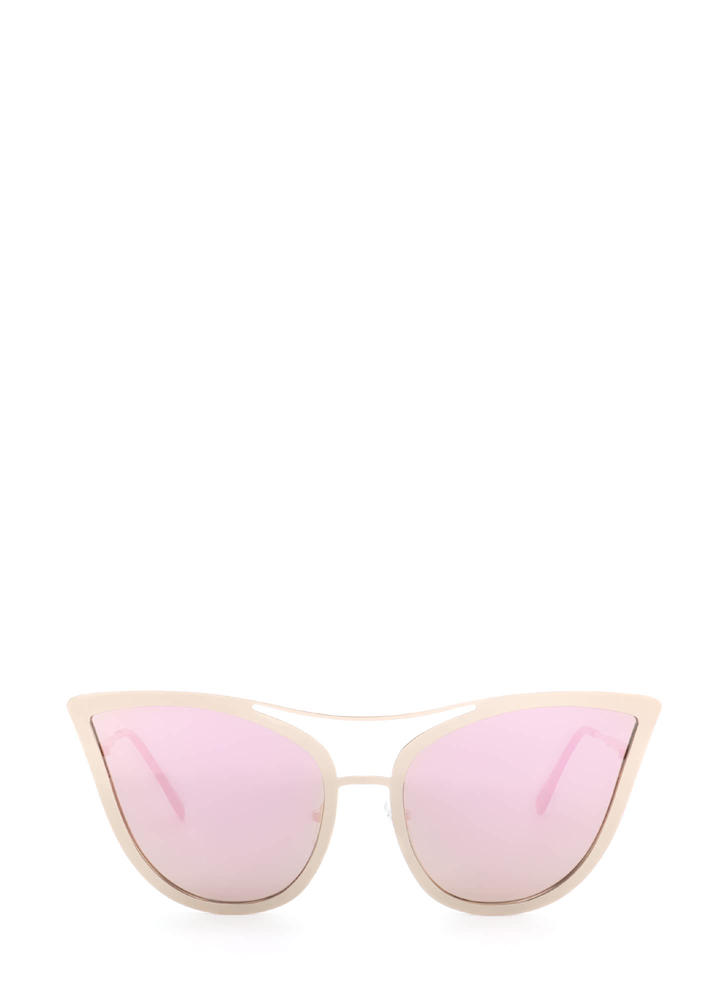 Pretty Kitty Mirrored Sunglasses