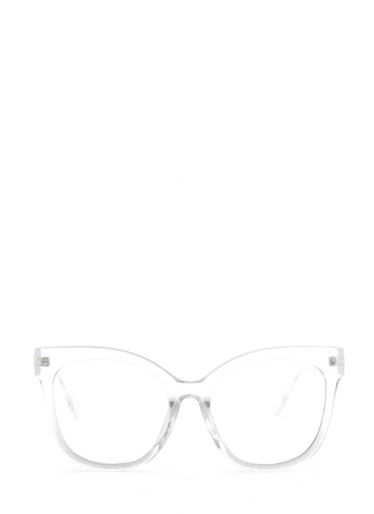 Big Time Oversized Clear Glasses CLEAR